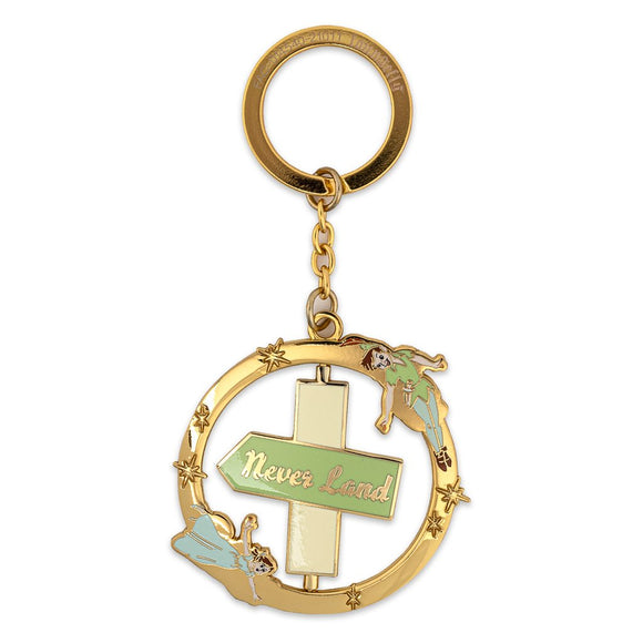 Loungefly Disney Peter Pan Spinning Enamel Keychain - Preorder