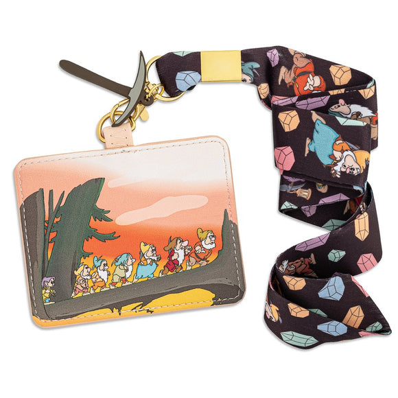 Loungefly Disney Snow White and the Seven Dwarfs Lanyard with Cardholder - Preorder