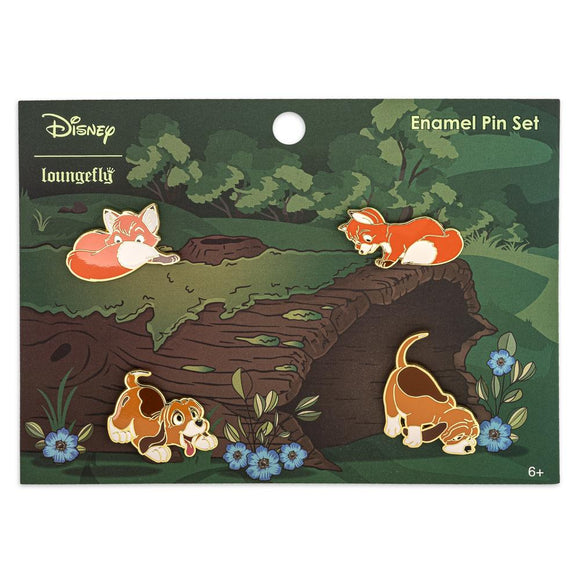 Loungefly Disney The Fox and The Hound 4pc Enamel Pin Set - Preorder