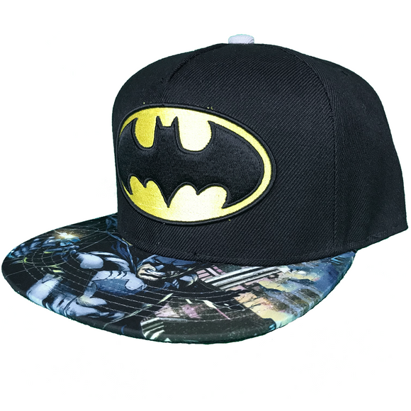 DC COMICS BATMAN PRINTED BRIM SNAPBACK - Blue Culture Tees