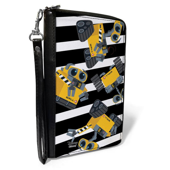 DISNEY PIXAR WALL-E POSES SCATTERED STRIPE WALLET