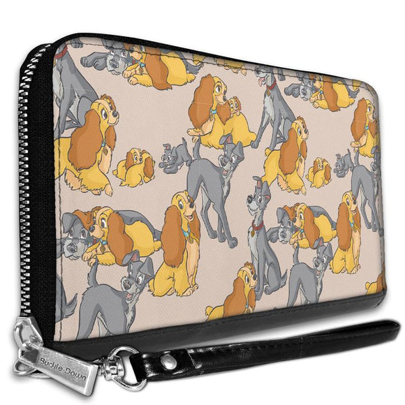 DISNEY LADY AND THE TRAMP WITH PUPPIES POSES WALLET