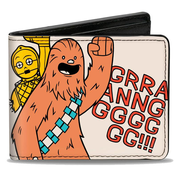 STAR WARS CHEWBACCA CARRYING C3-PO BI-FOLD WALLET