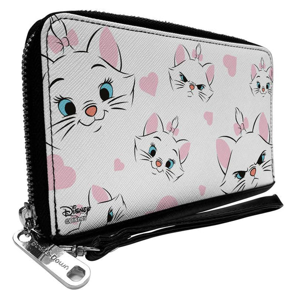 DISNEY ARISTOCATS MARIE EXPRESSIONS HEARTS SCATTERED WALLET