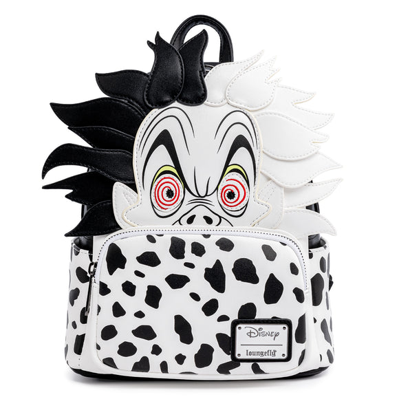 Loungefly Disney 101 Dalmatians Cruella De Vil Spots Cosplay Mini Backpack - Preorder