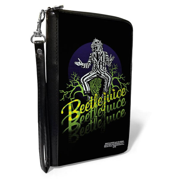 BEETLEJUICE SITTING ON TOMBSTONE POSE TREES WALLET