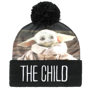 Star Wars The Mandalorian The Child Sublimated Cuff Pom Beanie