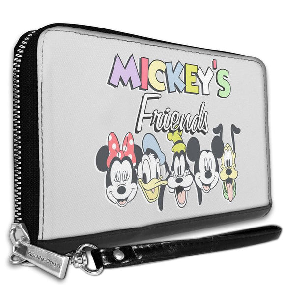 DISNEY MICKEY'S FRIENDS THE FAB FIVE FACES WALLET
