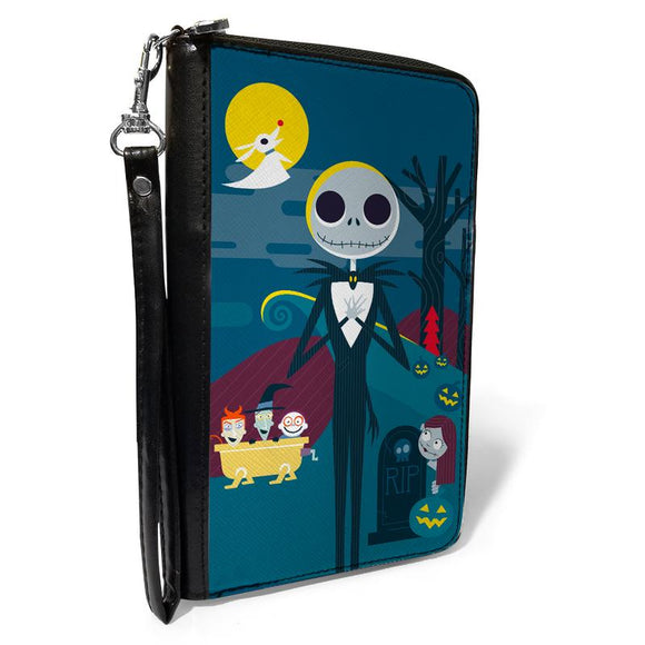 Disney The Nightmare Before Christmas Stylized Jack Cemetery Scene Blues Wallet