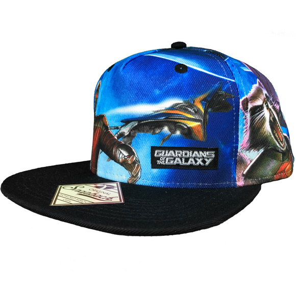GUARDIANS OF THE GALAXY ALL OVER SNAPBACK HAT - Blue Culture Tees