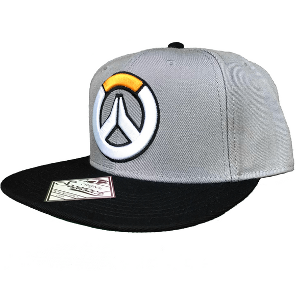 OVERWATCH EMBROIDERED LOGO FLAT BILL SNAPBACK HAT - Blue Culture Tees