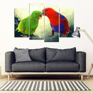 Eclectus Parrot Print 5 Piece Framed Canvas- Free Shipping