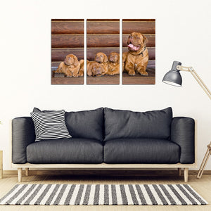 Bordeaux Mastiff Print- Piece Framed Canvas- Free Shipping
