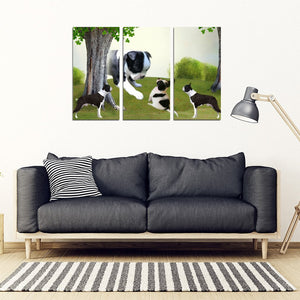Cute Boston Terrier Print-5 Piece Framed Canvas- Free Shipping