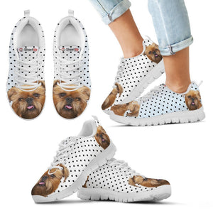 Brussels Griffon Black Dots Print Running Shoes For Kids-Free Shipping