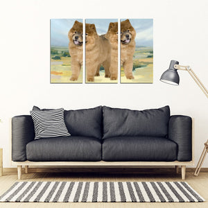 Chow Chow Dog Print-5 Piece Framed Canvas- Free Shipping