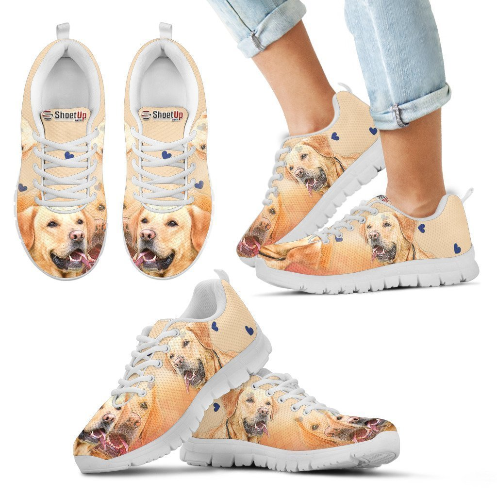 Labrador Retriever Print Running Shoes For Kids- Free Shipping