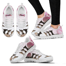 Whippet Pink White Print Running Shoes For Women-Free Shipping