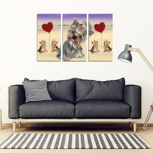 Yorkshire Terrier (Yorkie) Print-5 Piece Framed Canvas- Free Shipping