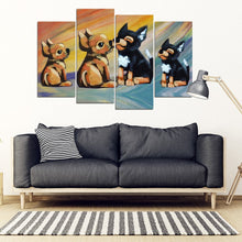 Chihuahua Dog Love Print-5 Piece Framed Canvas- Free Shipping