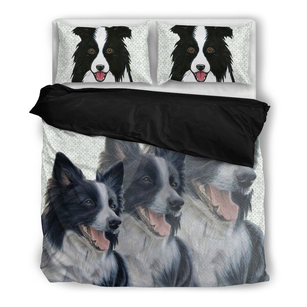 Amazing Border Collie Dog Print Bedding Set- Free Shipping