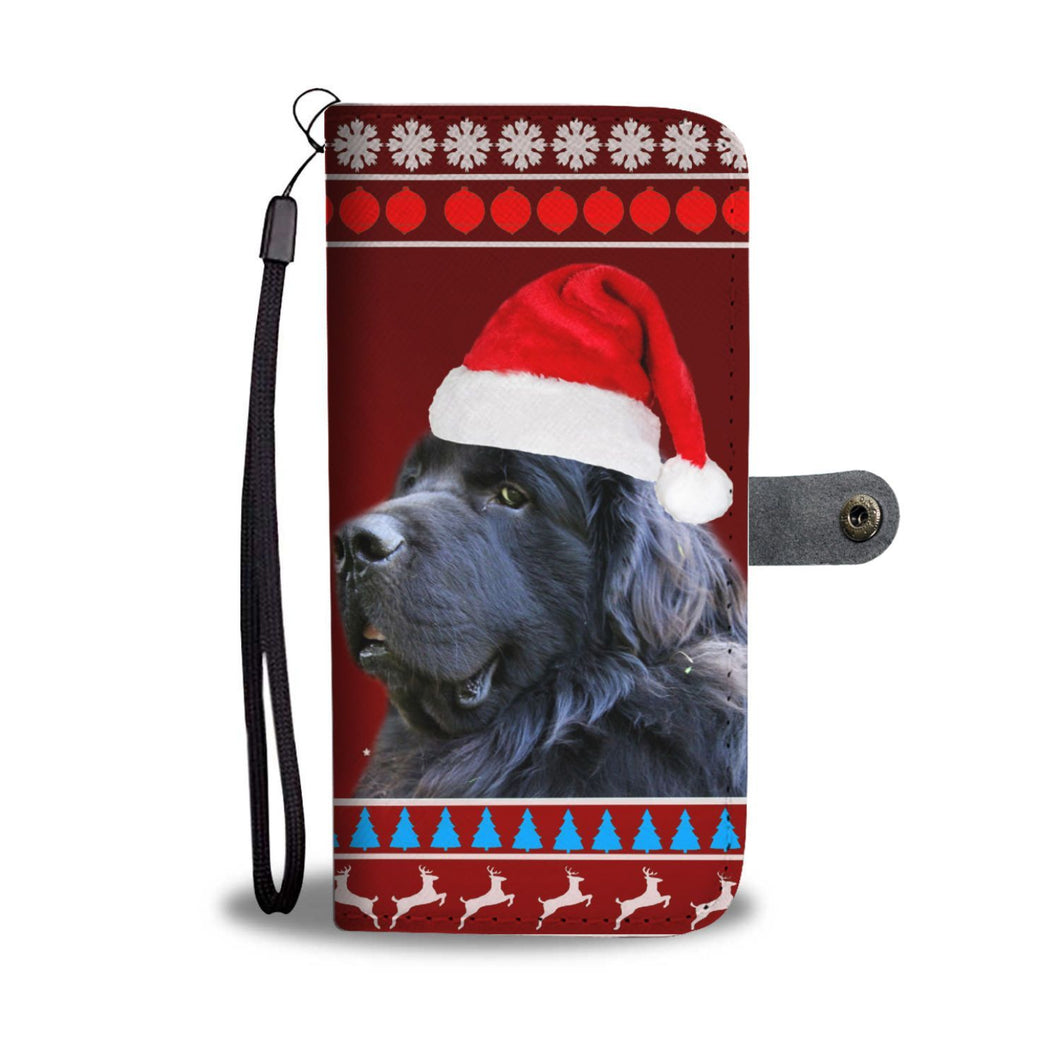 Newfoundland Dog Christmas Print Wallet Case-Free Shipping