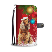 English Cocker Spaniel Christmas Red Print Wallet Case-Free Shipping