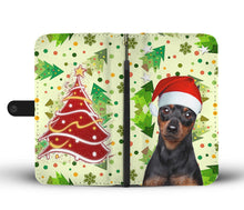 Miniature Pinscher On Christmas Print Wallet Case-Free Shipping