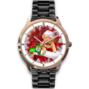 Bordeaux Mastiff Dog New York Christmas Special Wrist Watch-Free Shipping