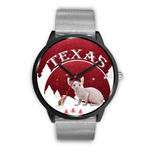 Cute Sphynx Cat Texas Christmas Special Wrist Watch-Free Shipping