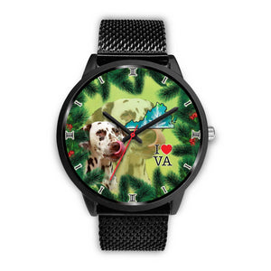 Lovely Dalmatian Dog Virginia Christmas Special Wrist Watch-Free Shipping