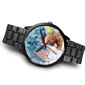 Bloodhound Dog On Christmas Alabama Wrist Watch-Free Shipping