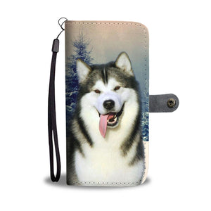 Alaskan Malamute Dog Wallet Case- Free Shipping