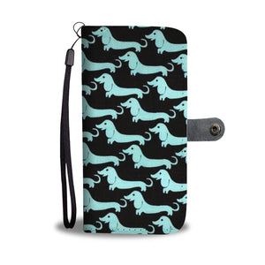 Dachshund Dog 2nd Pattern Print Wallet Case-Free Shipping