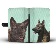 Amazing Dutch Shepherd Dog Pattern Print Wallet Case-Free Shipping