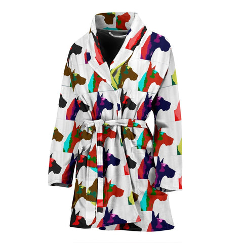 Great Dane Dog Pattern Print Women's Bath Robe-Free Shipping