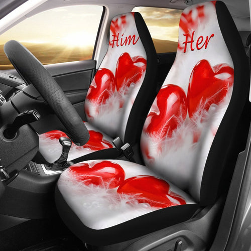 Him & Her Valentine's Day Special Car Seat Cover Seat- Free Shipping