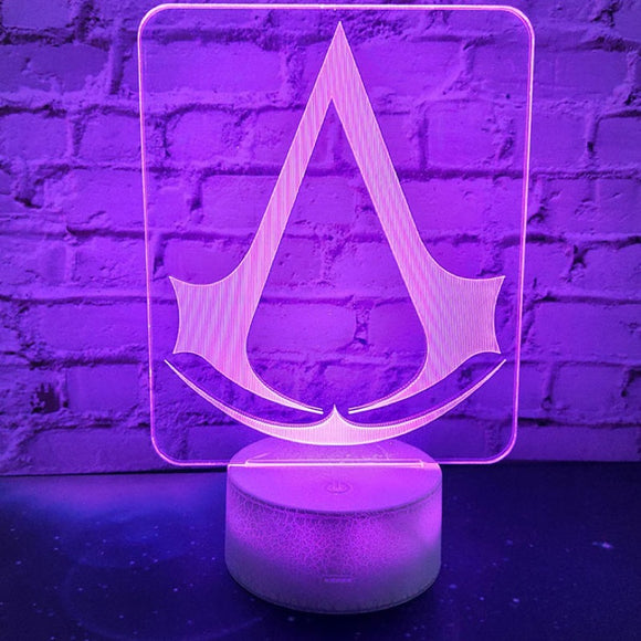 Assassin's Creed Lampe LED USB Lampe 7 Couleur Lampe Décoration Cadeau