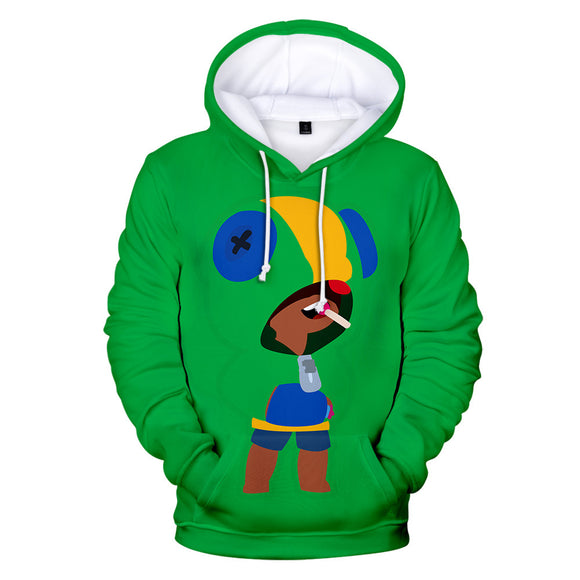 Brawl Stars Default Leon Vert Sweat à Capuche Sweat-shirt à Capuche Adulte Cadeau Noël