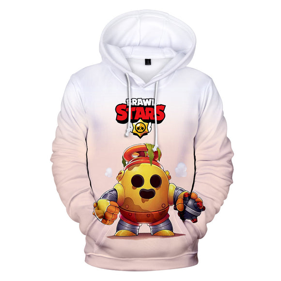 Brawl Stars Robo Spike Sweat à Capuche Sweat-shirt à Capuche Adulte Cadeau Noël