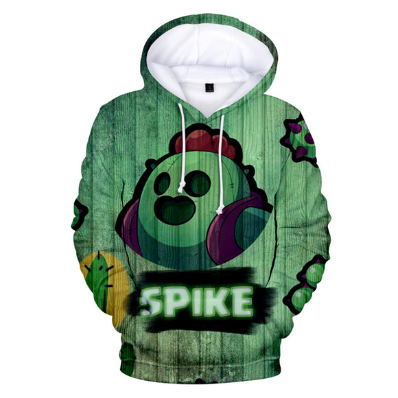 Brawl Stars Spike Sweat à Capuche Sweat-shirt à Capuche Adulte Cadeau Noël