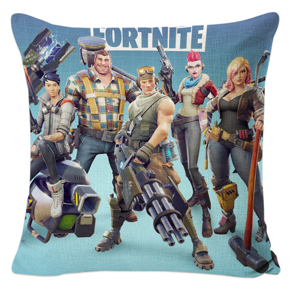 Fortnite 3D Battle Royale Coussin Décoratif en Lin