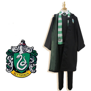 Harry Potter Slytherin Robe Uniforme Cosplay Costume