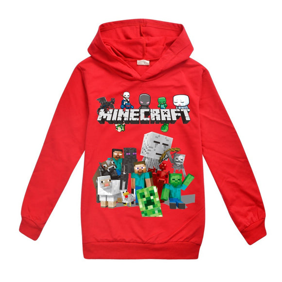 Haut à Capuche Minecraft Sweat-shirt à Capuche Enfant Minecraft Sweats à Capuche 3D Manches Longues