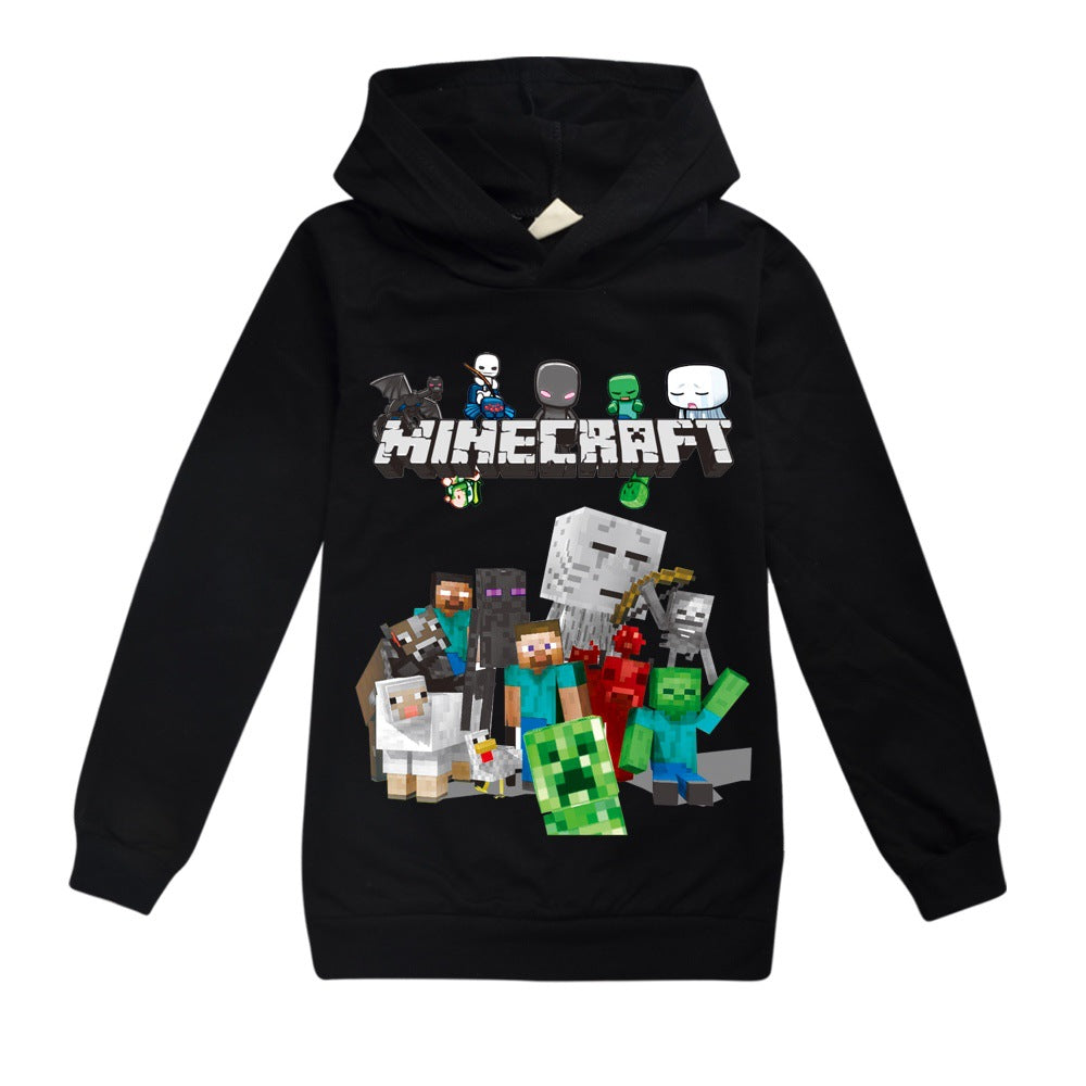 Haut à Capuche Minecraft Sweat shirt à Capuche Enfant Minecraft Sweats à Capuche 3D Manches Longues