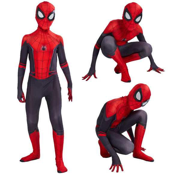 Spider-Man Far From Home Cosplay Costume Combinaison Collant du Carnaval pour Enfant