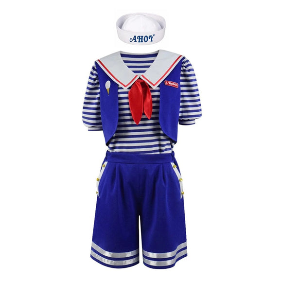 Stranger Things 3 Scoops Ahoy Robin Costume Déguisement Unisexe Halloween Carnaval Cosplay