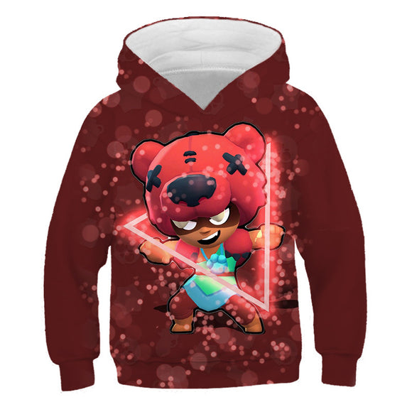 Sweat à Capuche Enfant Brawl Stars Default Nita Sweat-shirt à Capuche Cadeau Noël