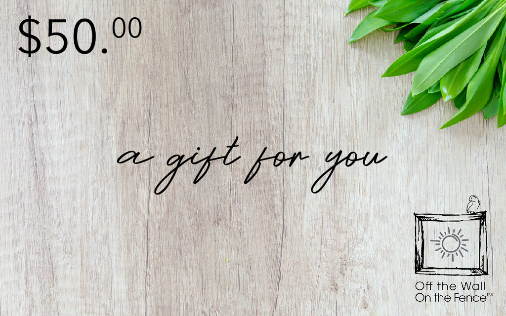 Off the Wall On the Fence Gift Card