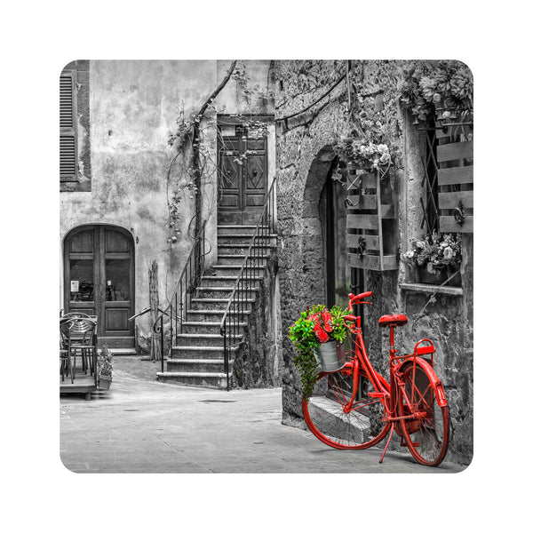 Red Bicycle Coasters